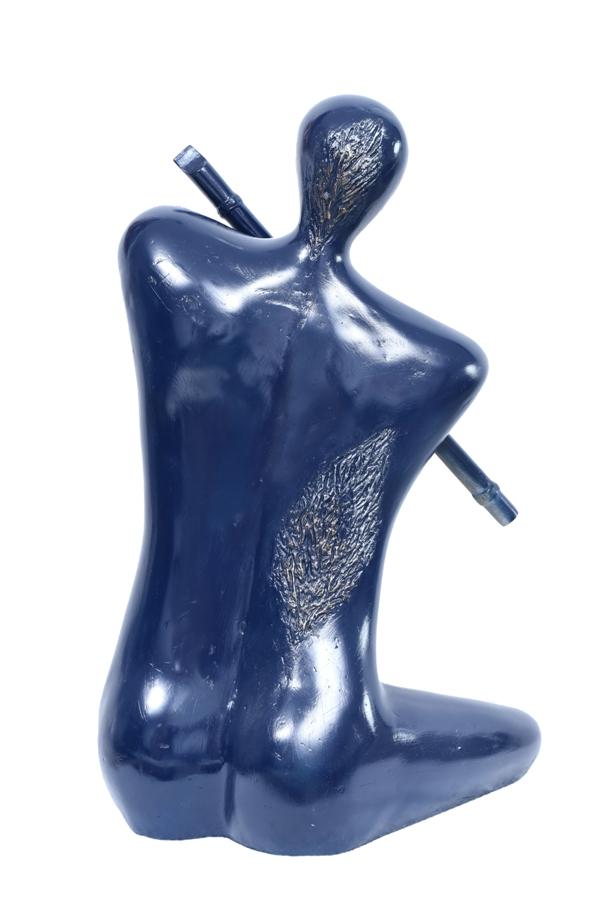 Krishna & The Flute-Blue in Fibre Glass, 16*10*25 Inches