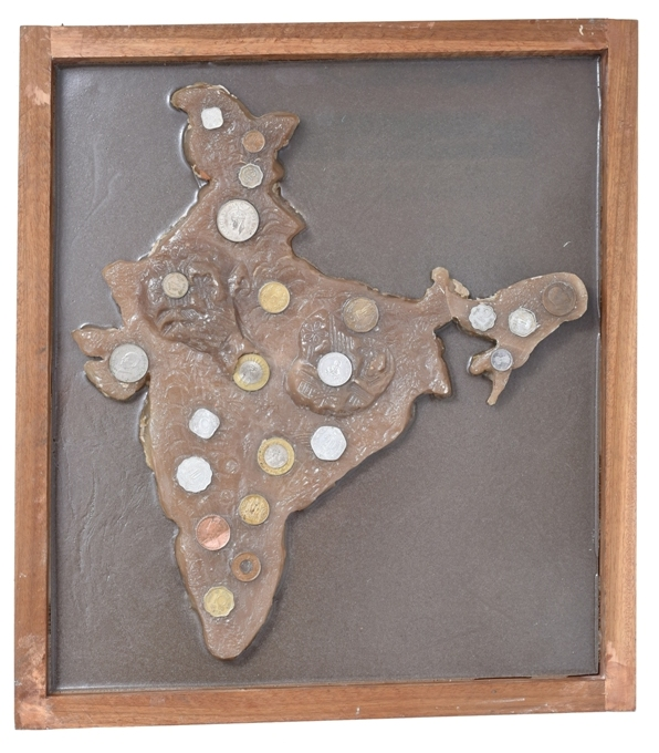 India Coins in Fibre Glass, 15*8*16.5 Inches