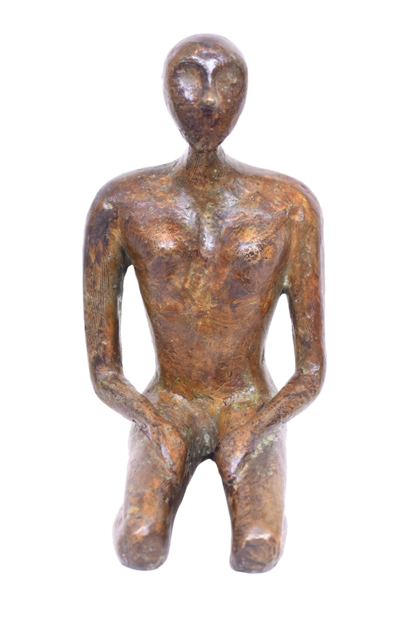 Seiza in Bronze, 5*5.5*9 Inches