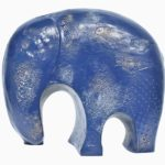 The Blue Elephant in Fibre Glass, 11*4.5*10 Inches