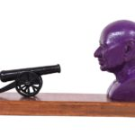 Gandhi & The Gun in Fibre Glass, 12*3.5*6.5 Inches