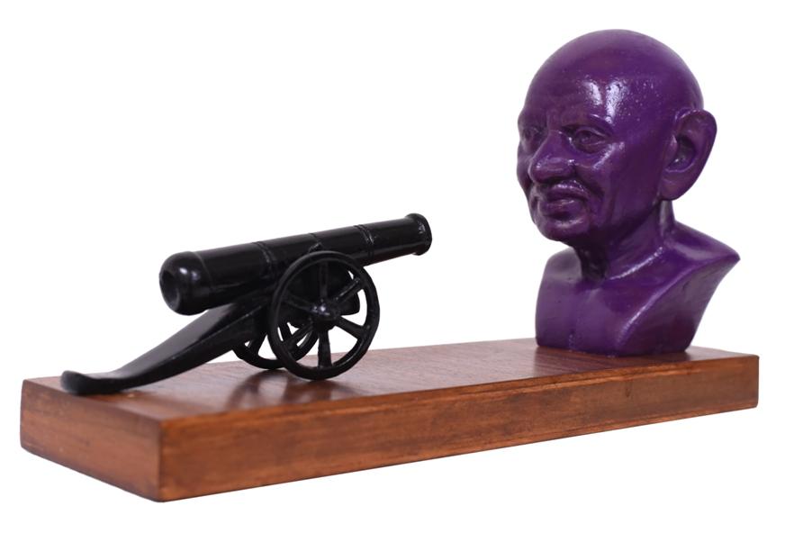 Gandhi & The Gun in Fibre Glass, 12*3.5*6.5 Inches