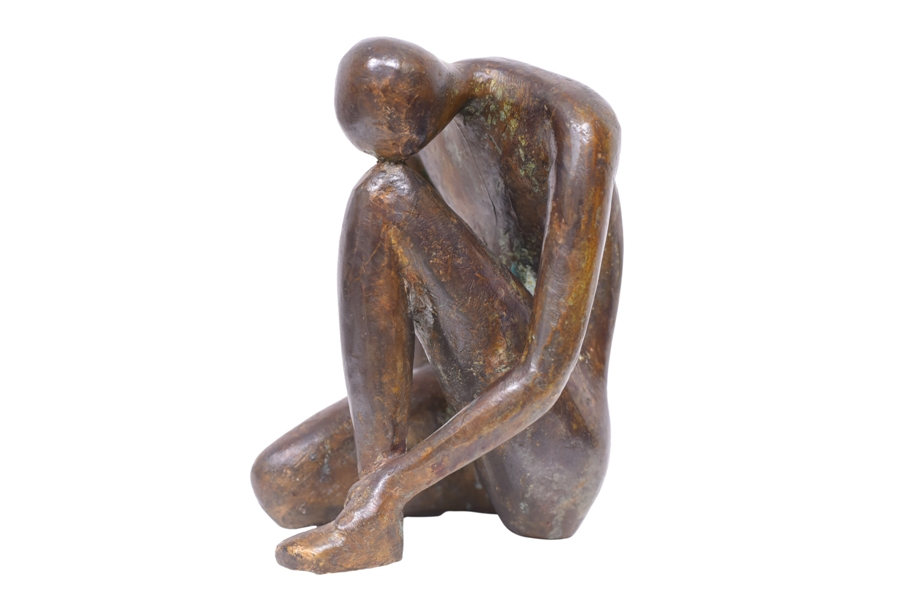 Melancholy in Bronze, 5*5*6 Inches