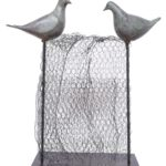 The Birds on a fence in Fibre GlassMetal, 12.5*4*22 Inches