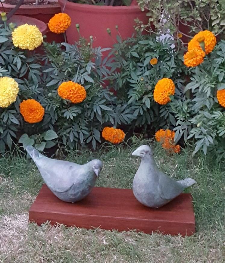 The Birds in Fibre Glass, 9*3.5*6 Inches