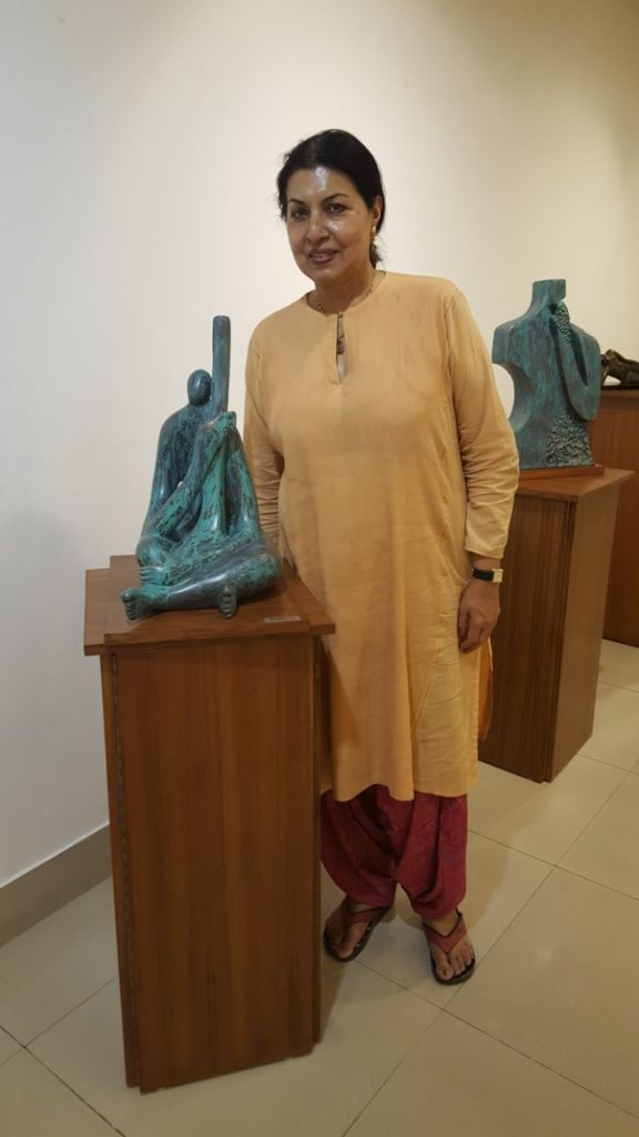 At the AIFACS Gallery with Singer Rekha Surya